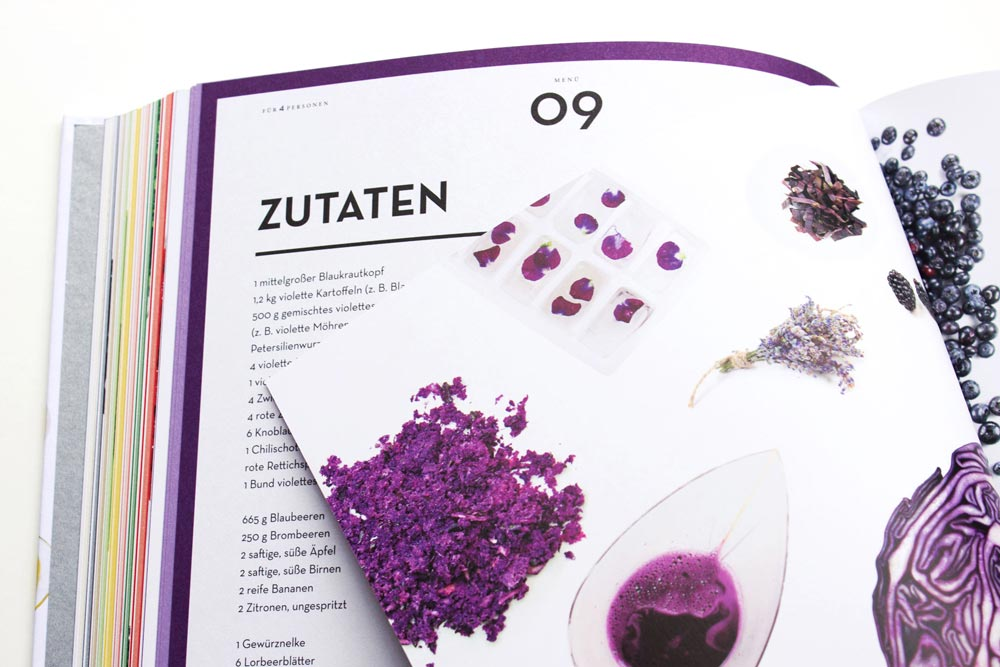 MS MANTOBER – Kochen nach Farben, 12 Farben 12 Menüs – The Monochromes